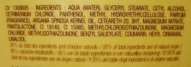 Lovea argan conditioner ingredienten