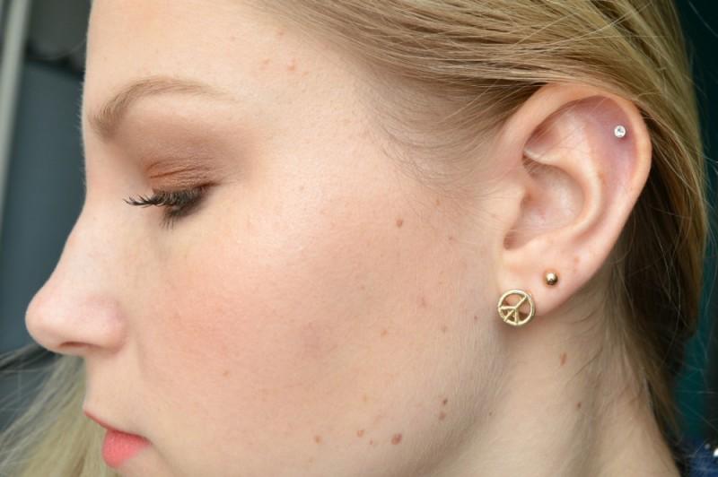 Helix piercing ontstoken