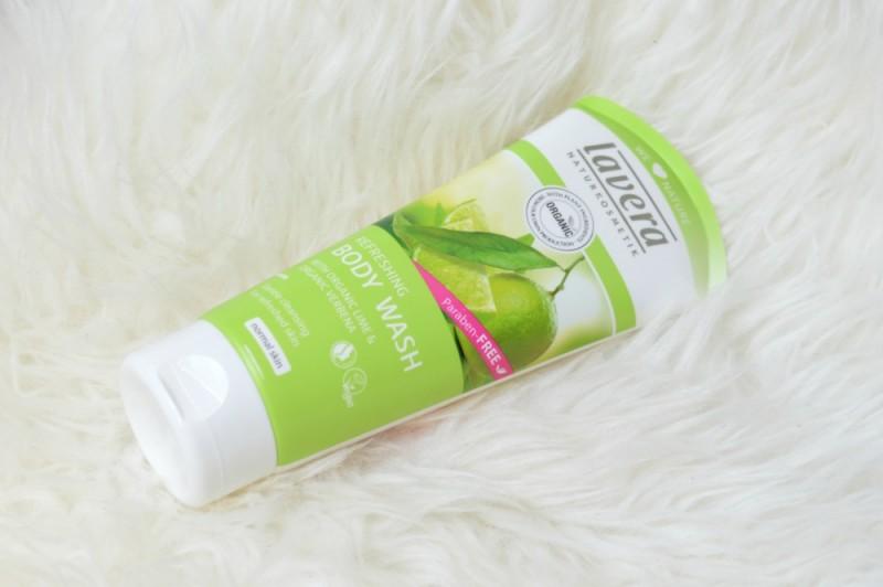 Lavera refreshing body wash