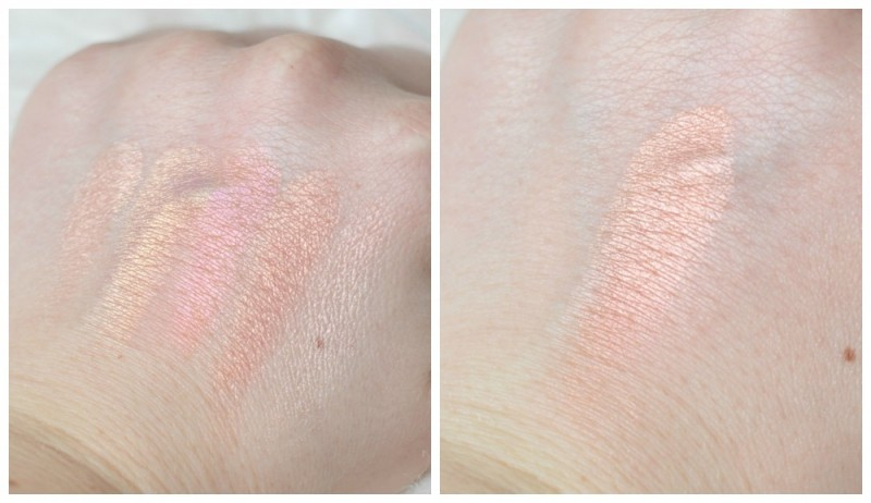 The Body Shop shimmer waves coral swatch