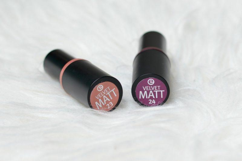 Essence velvet matt lipsticks