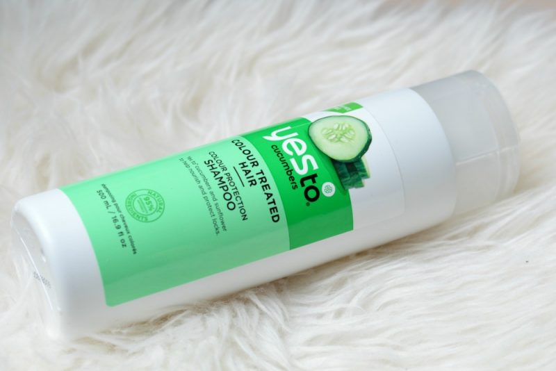 Yes to cucumbers colour protection shampoo