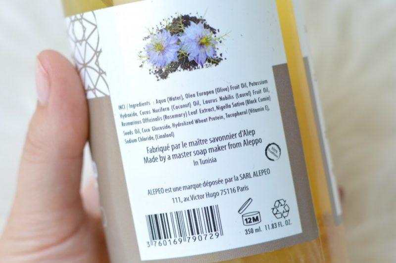 Aleppo shampoo ingredienten
