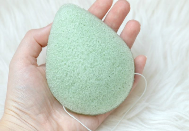 Lady green konjac sponge Aloe Vera