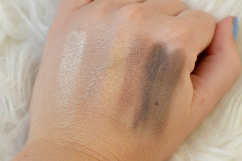 Swatches Etos make-up