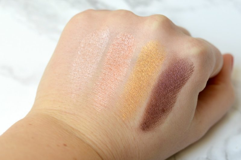 Pacifica enlighten eyeshadow palette Swatches