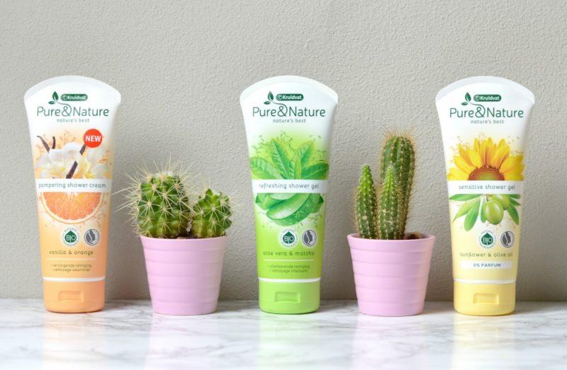 Kruidvat pure & nature shower gel