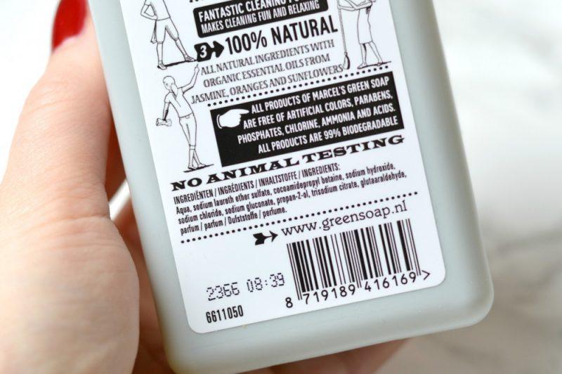 Marcel's Green Soap hand soap ingrediënten