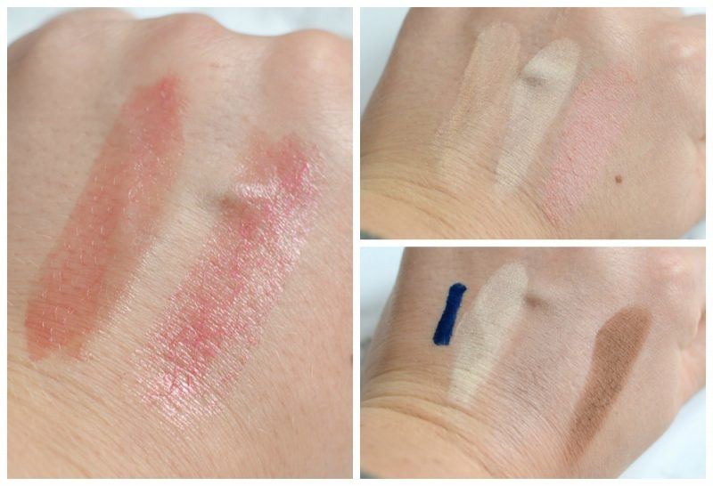 Boho make-up swatches