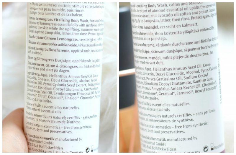 Dr Hauschka ingrediënten douchegel