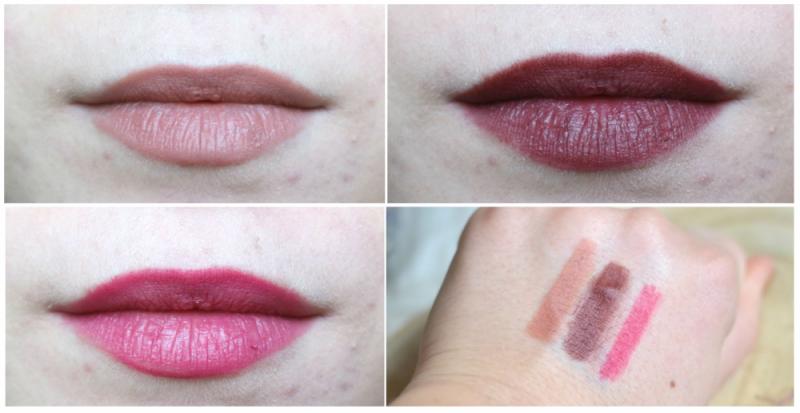 Alverde lipstick swatches