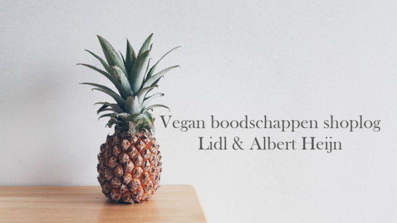 Vegan boodschappen shoplog