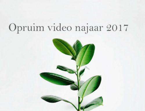 Opruim video najaar 2017   Najaarsschoonmaak: minimalisme kriebels!