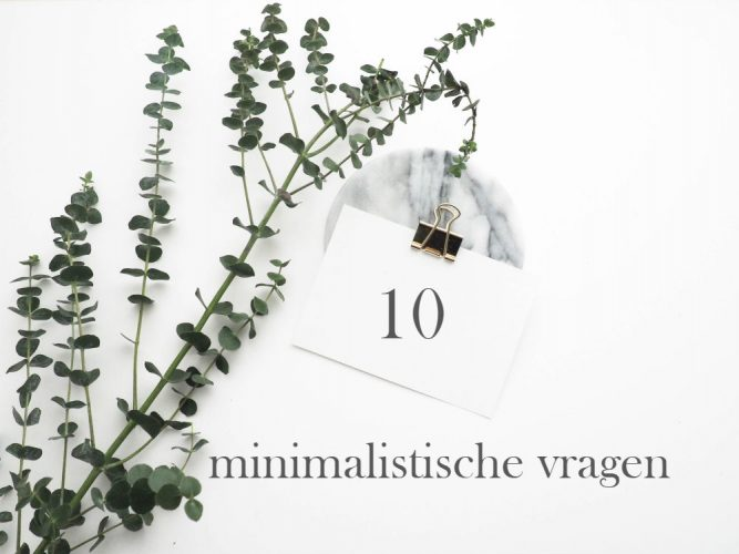 10 minimalistische vragen
