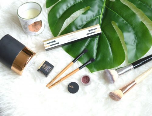 Inika loose mineral eye shadow & eye brush set