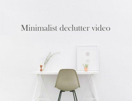 Minimalist declutter video | Zo pak je jouw spullen ook aan!