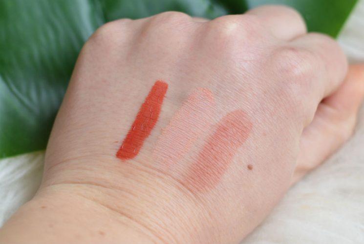 Veg-up make-up swatches