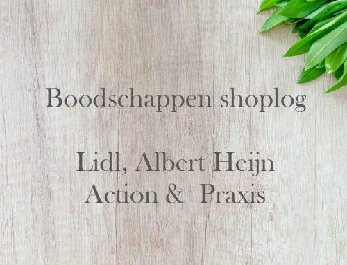 Boodschappen shoplog: Lidl, Albert Heijn, Action & Praxis