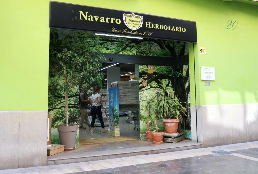 Navarro Herbolario vegan biologische winkel Valencia