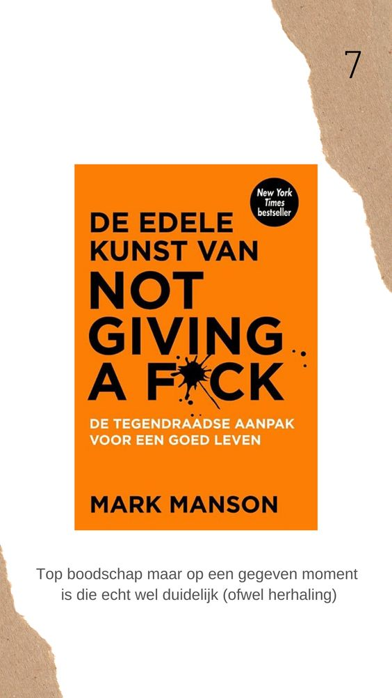 Edele kunst van not giving a fuck boek review