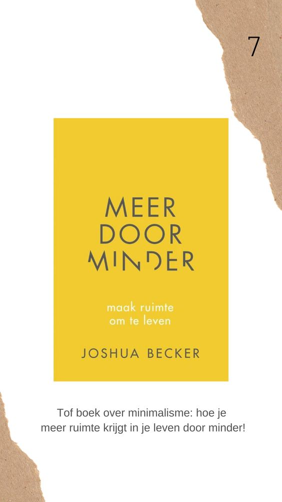 Meer door minder boek review