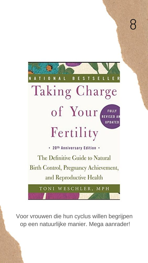 Taking charge of your fertility boek review